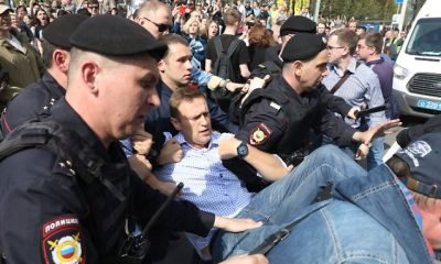 """""""Le a cárral"""" a rendőrség letartóztatja Navalny-t Moszkvában"""