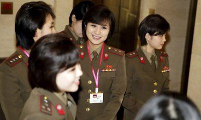 Észak-koreai művészegyüttes a téli olimpián